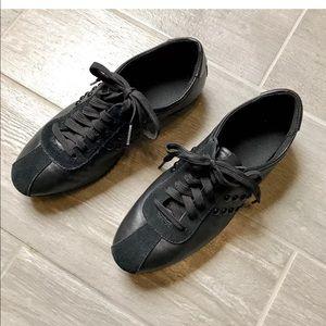 Coach Rivets Sneakers Black Leather Sz 6 Lace up